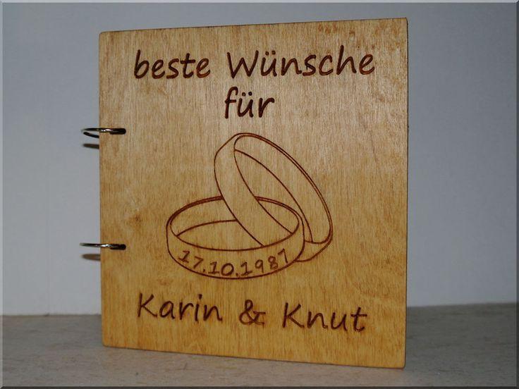 Hochzeitsalben - Geschenk zur Silberhochzeit / Hochzeitstag, Buch - ein Designerstück von raupenholz bei DaWanda