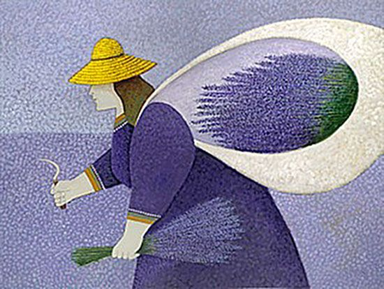 "Lowell Herrero (American, born 1921) ~ ""Lavendar Lady"""