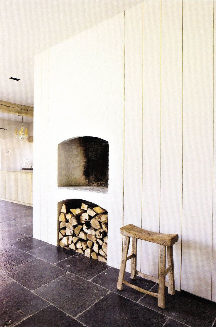 Extravagant fireplace steals the show stone fireplace for the spacious - Fireplace In Am Projects Private Home From Belgium Love The Height Of The Fireplace With The Wood Stored Underneath