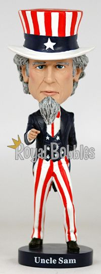 This high-quality Uncle Sam #bobblehead from #RoyalBobbles is a great gift for any collector.