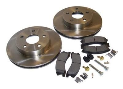 Crown Automotive Crown Automotive Front Disc Brake Service Kit - 52098672KL 52098672KL Disc Brake Pad and Rotor Kits… #TruckParts #JeepParts