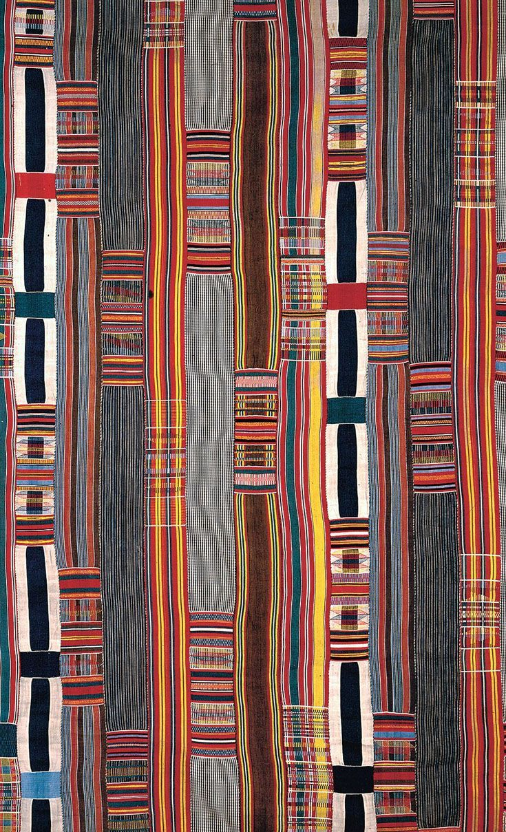 dirtfloorgeneralstore:  Woven cloth from the Ewe people of Togo | Cotton, locally woven and dyed.