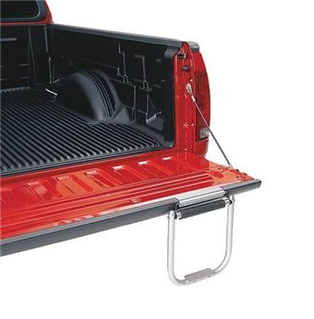 Topline TS2000-01 Silver Bed Hopper Tailgate Step Mount - RVupgrades.com