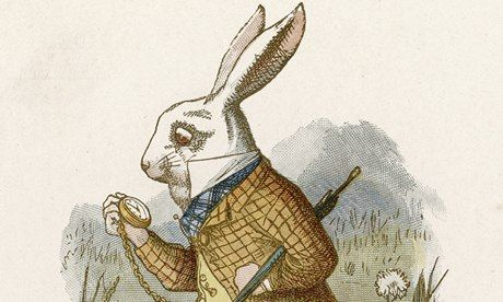 My hero: Sir John Tenniel by Chris RiddellWhite Rabbit