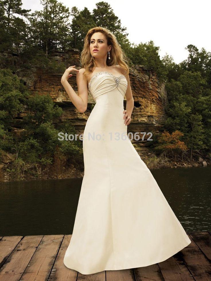 2016 элегантный простая инвалидов свадебные платья милая бусины украшенные атласная свадебные платья