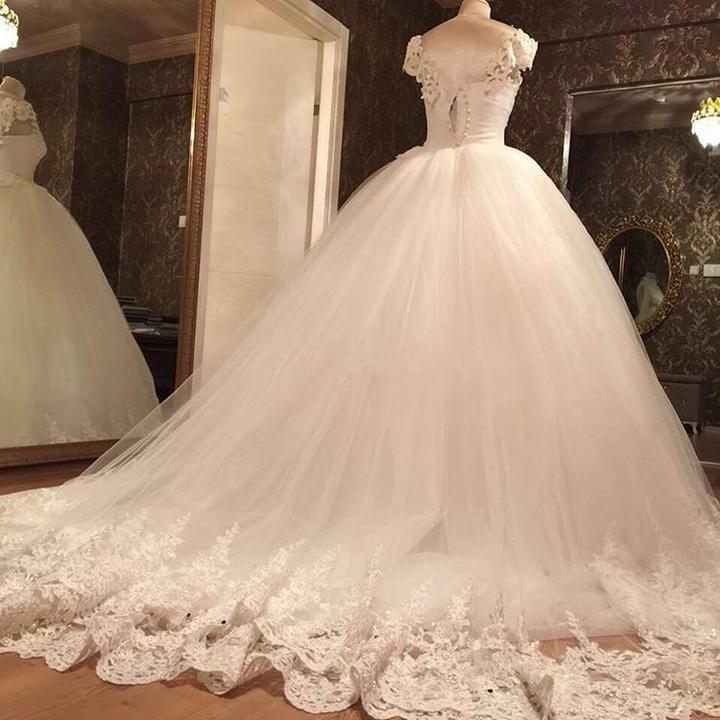 Color White Ivory Material Tulle Lace Pearl Tailor Time 15 To 25 Days Shipment Ship To Worldwide Via Dhl Ems Sweetheart Wedding Dress Ball Gowns Ball Dresses