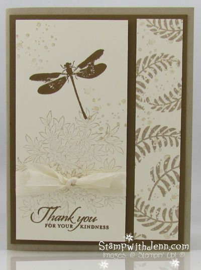 "By Jenn Tinline. Stamps from ""Awesomely Artistic"" by Stampin' Up. Uses first and second generation stamping (aka ""stamping off"")"