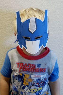Printable Masks Optimus Prime And Masks On Pinterest