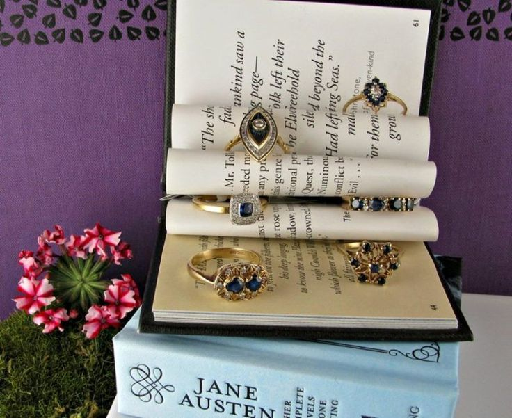 #Sapphire #Rings #Jewelry #Books #Jane #Austen #Regency #Reading #The #Antiques #Room #Galway #Ireland #Book #Club