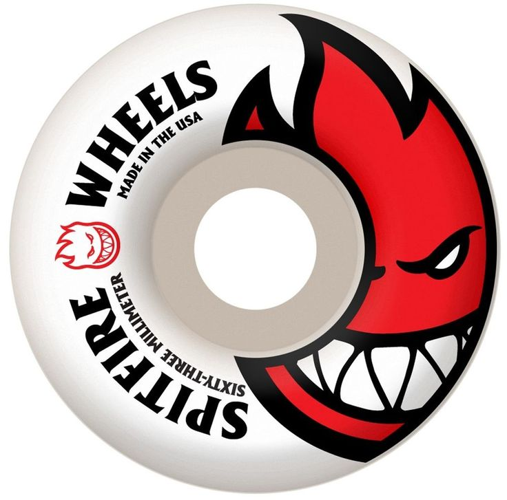 SPITFIRE 63MM BIGHEAD WHITE / RED BRAND NEW CHEAP SKATEBOARD WHEELS #Spitfire