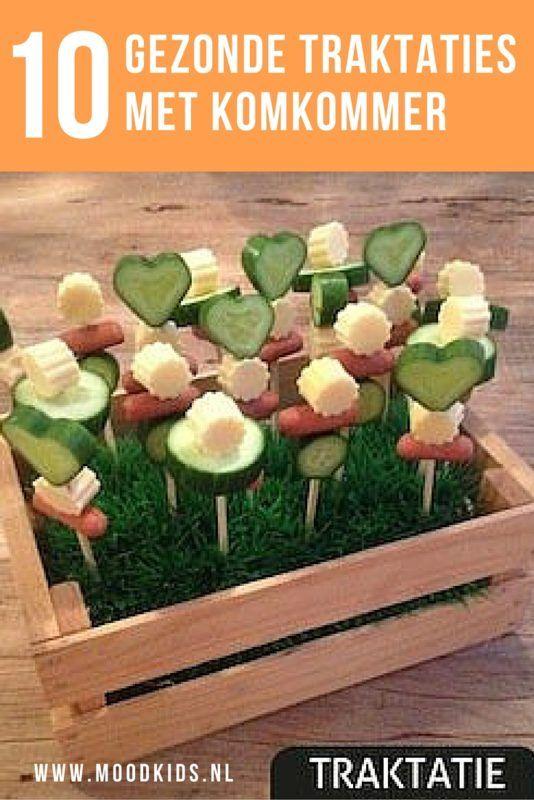 Kies uit deze 10 gezonde traktaties met komkommer voor kleuters en peuters. Vrolijk en makkelijk zelf te maken deze kindertraktaties. Lees ze allemaal op de blog.