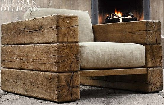 RH Aspen Chair- my mind is drooling over this outdoor seating- imagining my rustic, chic ski chalet :)
