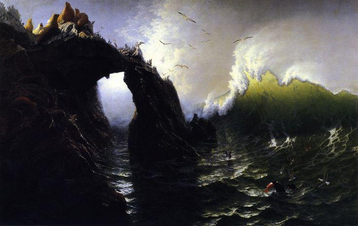 The Athenaeum - Seal Rocks (Albert Bierstadt - 1872)