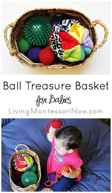 """Today, I want to share one of my granddaughter's all-time favorite """"toys"""" ... her Montessori ball treasure basket."""