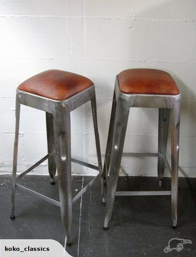Industrial Bar Stools with Black Leather Seats x2 | Trade Me & 50 best Bar stool images on Pinterest | Industrial bar stools ... islam-shia.org