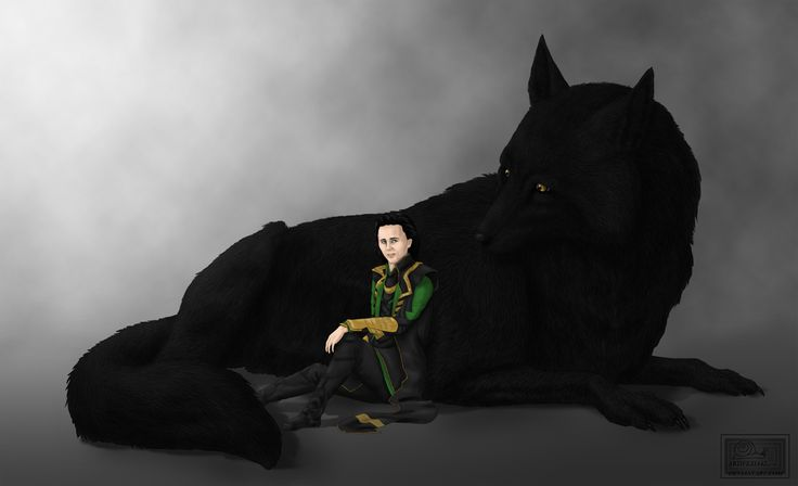 Fenrir Wolf - Loki's child by theperfectbromance on DeviantArt |Loki Fenrir