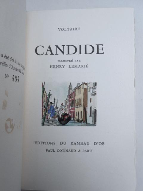 Candide. Illustré par Henry Lemarié. par Voltaire.: Paris, Edition du Rameau d Or, Paul Cotinaud (1952 - Antiquariat Fatzer ILAB
