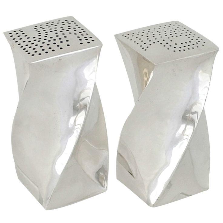 Antonio Pineda Taxco Sterling Silver Swirl Salt & Pepper Shakers