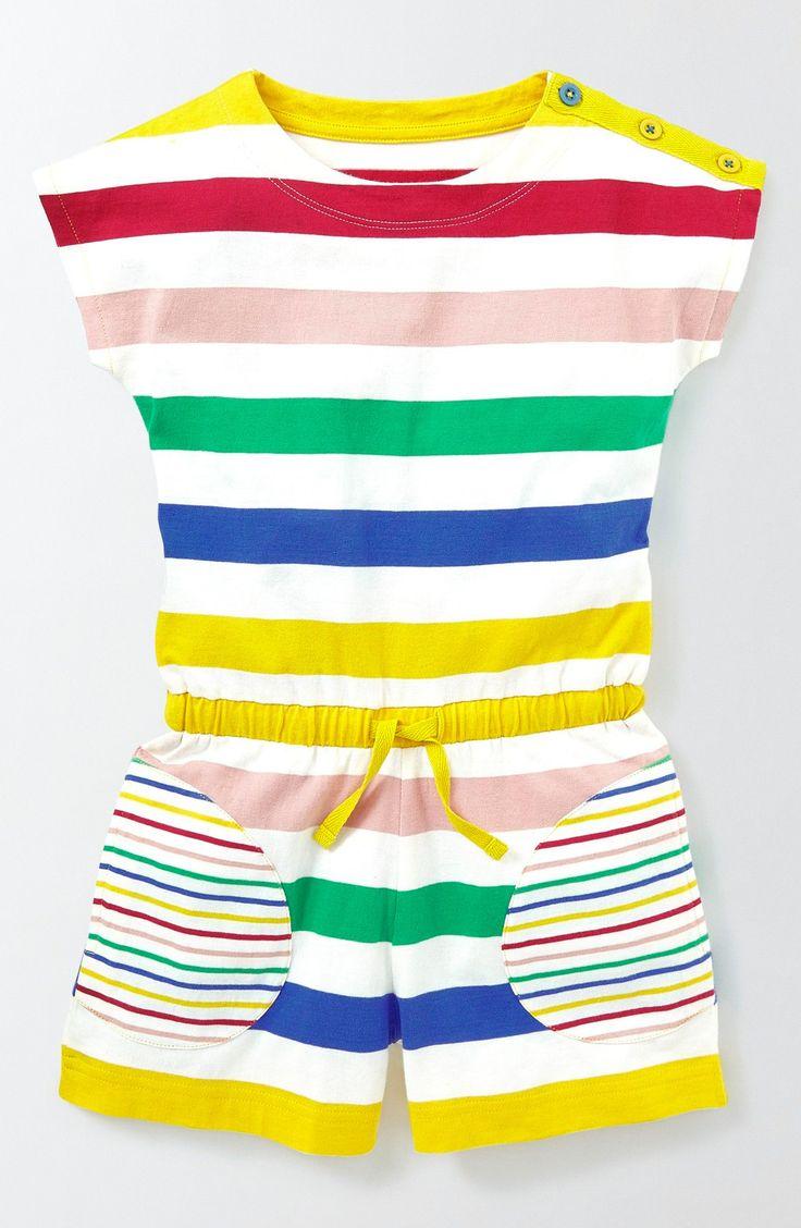 Main Image - Mini Boden Cotton Romper (Toddler Girls, Little Girls & Big Girls)