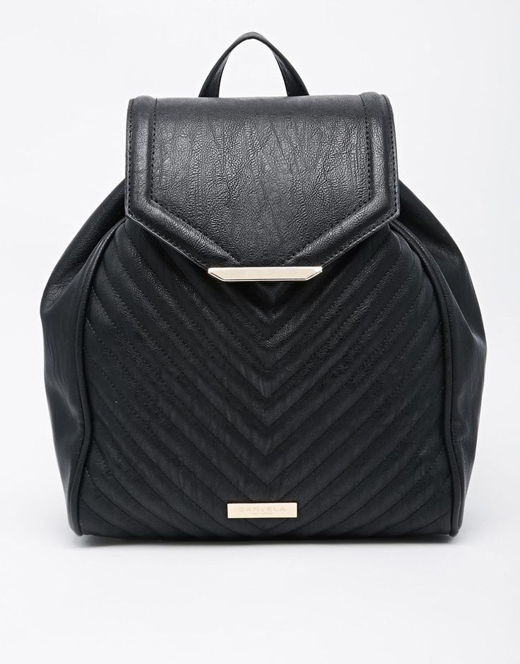 Image 1 ofCarvela Quilted Backpack With Chain Detail