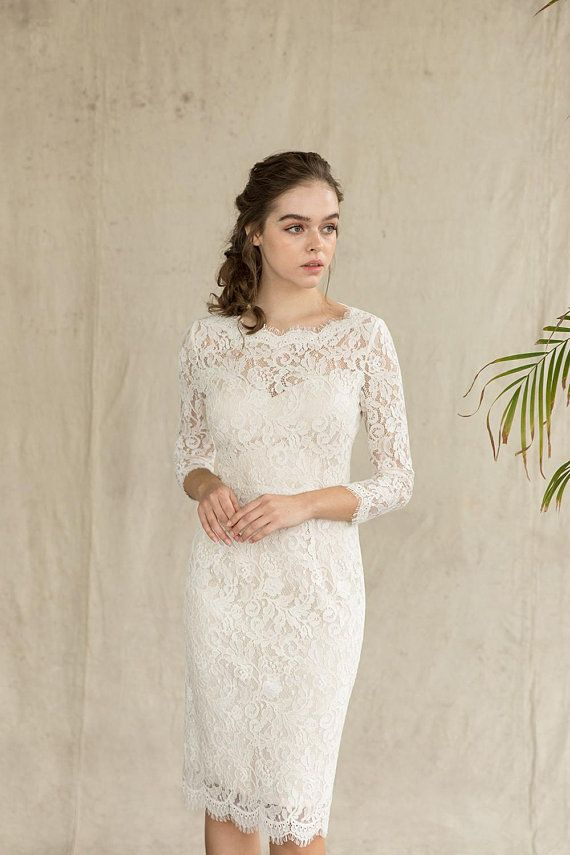 short sheath wedding dress