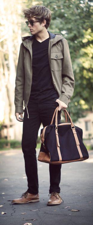 : Men Clothing, Weekend Bags, Guys Style, Men Style, Men Bags, Men Fashion, Rivers Islands, Black Jeans, Male Models