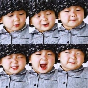 Instagram photo by bugsbun22 - ≧﹏≦#cute #perfectbaby #songminguk #triplets #kisskisskiss