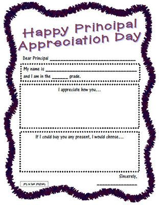Principal Appreciation Activity from Joy in the Journey on TeachersNotebook.com (4 pages)