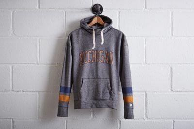 Tailgate Women's Michigan Cowl Neck Hoodie by  American Eagle Outfitters | At a capacity of over 100k, the Wolverines play in the largest football stadium in the nation. Plus, they boast the most overall wins in NCAA history and won the very first Rose Bowl.At a capacity of over 100k, the Wolverines play in the largest football stadium in the nation. Plus, they boast the most overall wins in NCAA history and won the very first Rose Bowl. Shop the Tailgate Women's Michigan Cowl Neck Hoodie…