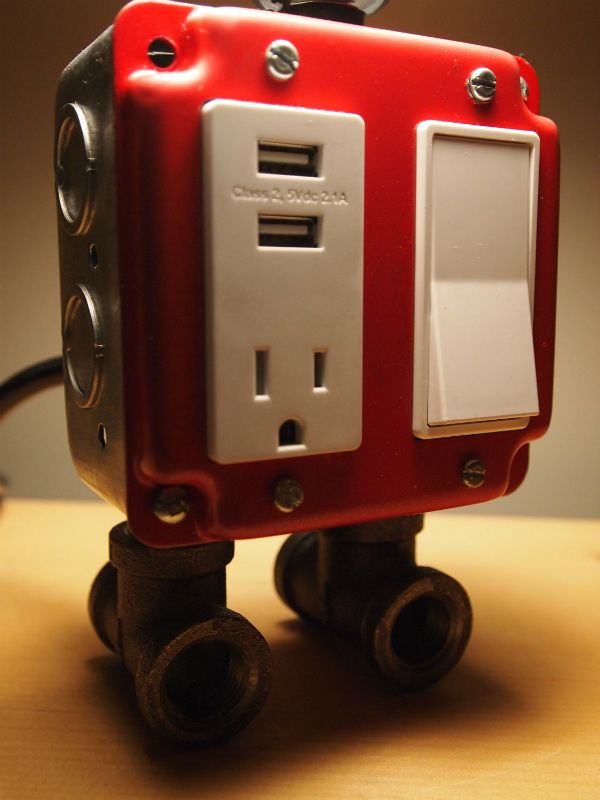Table Lamp with USB Charging Station