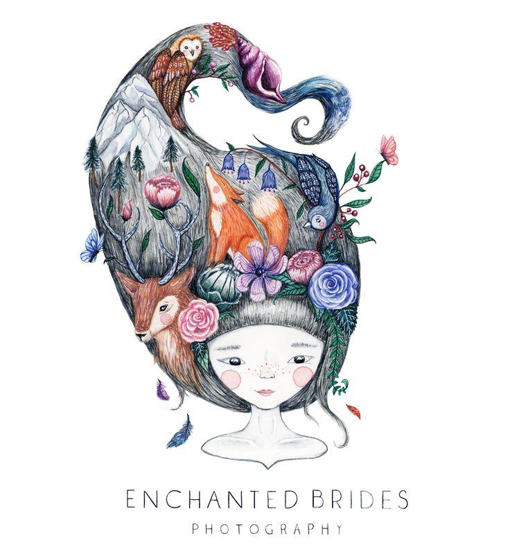 Bespoke branding and logo design for Enchanted Brides Wedding Photography by Wonder Meyer