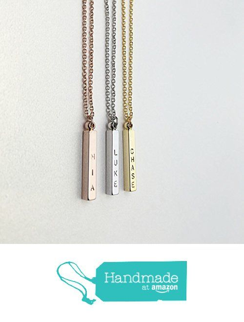 50 best same day shipping before 3 pm personalized custom jewelry 4 side engraved name bar necklace personalized jewelrycustom necklacehand stamped negle Image collections
