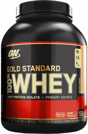 Optimum Nutrition Gold Standard 100% Whey Salted Caramel 3.5 Lbs. - 50 Servings OPT3090030 Salted Caramel - 24g of Whey Protein with Amino Acids for Muscle Recovery and Growth*