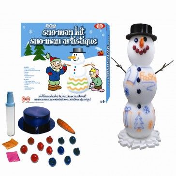 The ultimate Snow Man decorating kit for any artist who loves to be out in the snow.  http://www.dannabananas.com/sno-man-kit/