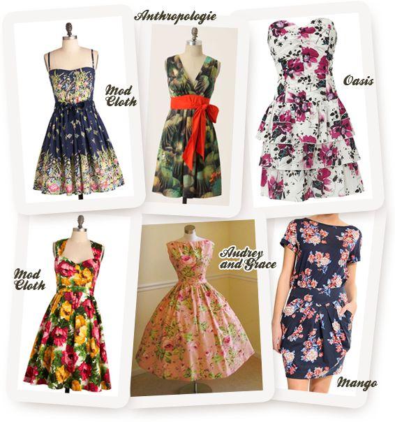 Wedding Guest Dresses, Floral Dresses for Weddings