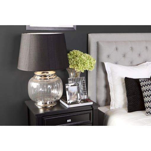 Cafe Lighting and Living Duke Headboard - Queen Glacier Grey - Cafe Lighting And Living from House of Isabella UK Bed head to match chair in bedroom