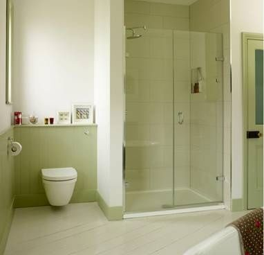 K: I like the shower cubicle and the toilet in the niche. Beautifully painted … #b …   – cabina de ducha moderna