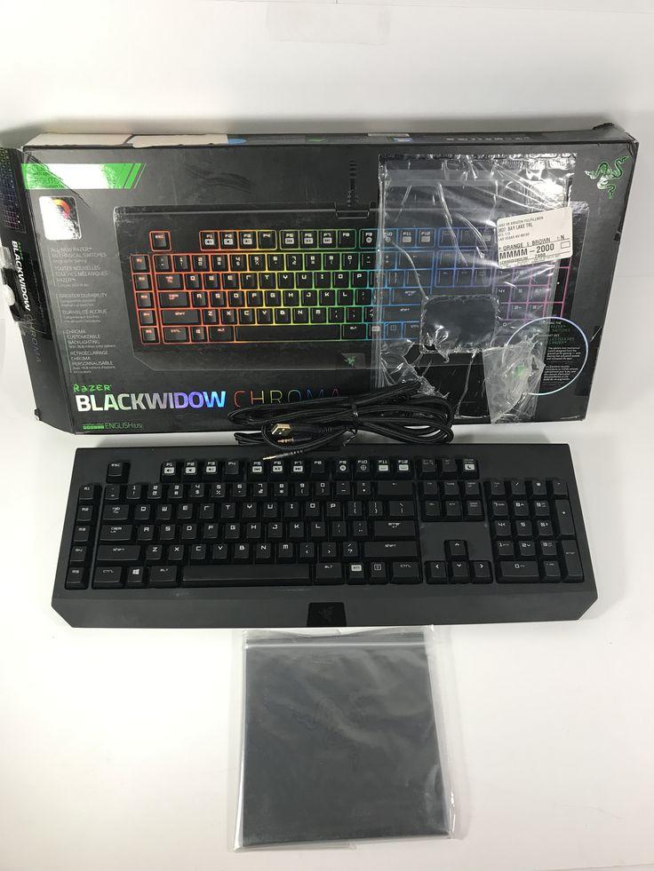 Razer BlackWidow Chroma, Clicky RGB Mechanical Gaming Keyboard- 5 Macro Keys