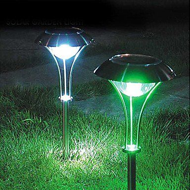 rgb led solar garden lighting