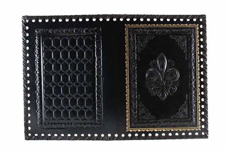 Monte Nero Imports - Florentine Leather Journal Cover in Black, $35.00 (http://www.mtnero.com/florentine-leather-journal-cover-in-black/)