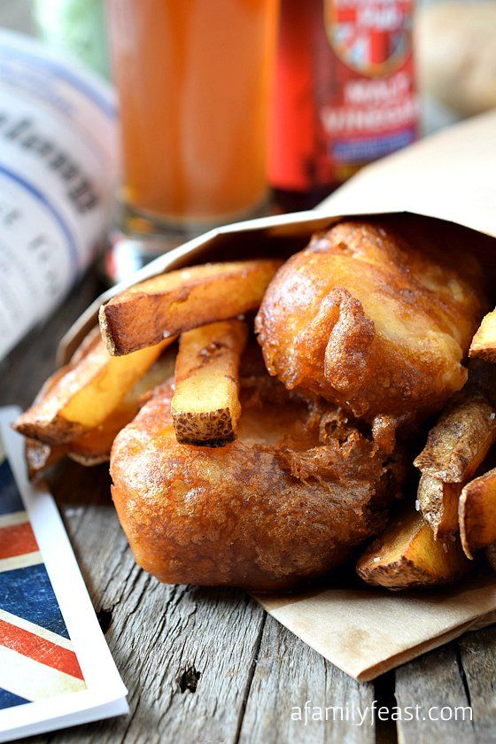 English-Style Fish and Chips - A Family Feast