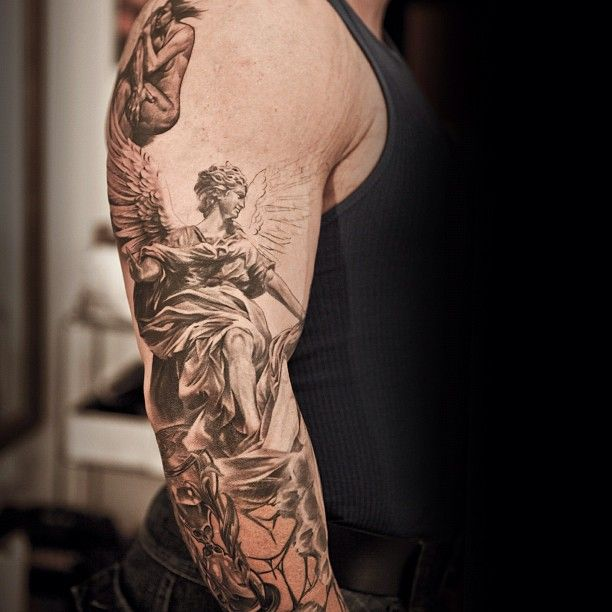 Full arm angel tattoo | Ink life | Pinterest | Need to ...