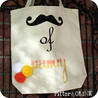 moustache (my stash) of candy halloween bag