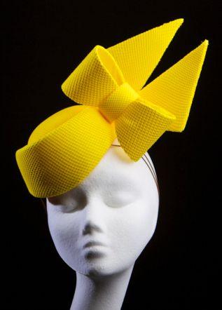 Kelsey Yellow Carol Kennelly Furlong Fashion Royal Ascot Goodwood Millinery