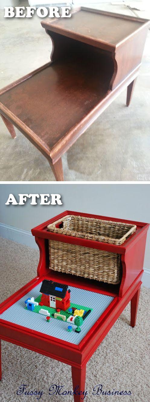 20 Creative Furniture Hacks -- DIY lego table!!