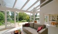 Conservatory with folding, sliding doors in Ealing, West London
