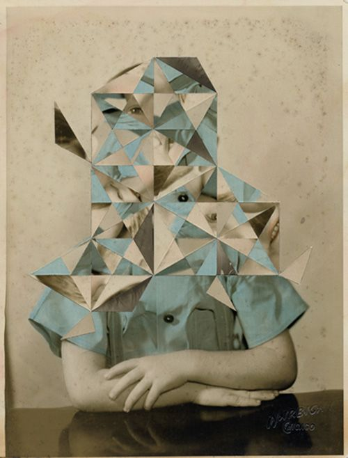 London artist Julie Cockburn hand-alters found portraits with embroidery, cut-outs, or collage. She makes surreal ordinary vintage photographs t...