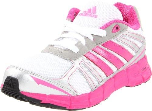 adidas Adifast Running Shoe (Little Kid/Big Kid),White/Pink/Metallic Silver,1.5 M US Little Kid $45.00: Running Shoes, Kid 45 00, Adifast Running, Kid White Pink Metallic, Girls Athletic, Athletic Shoes