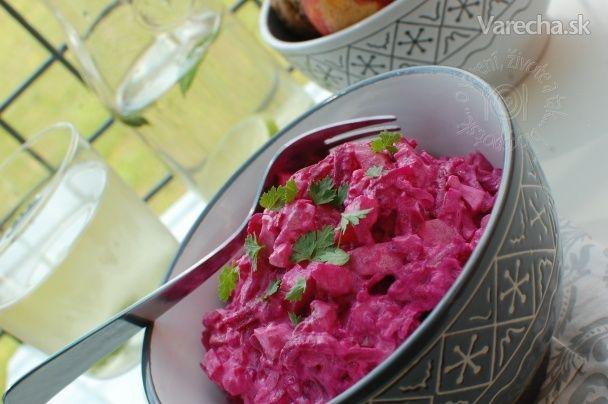 Šalát z červenej repy a zemiakov (fotorecept) - Recept