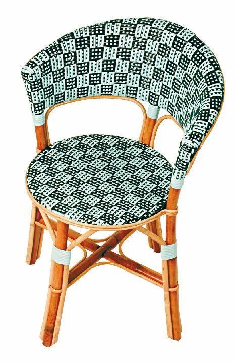 Chaises outdoor Made in France: chaises rotin Maison Drucker cafés parisiens
